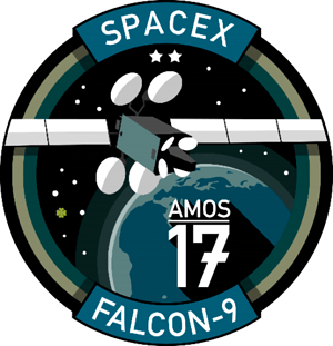 Amos-17 SpaceX Mission Patch