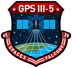 GPS-III SV05 SpaceX Mission Patch