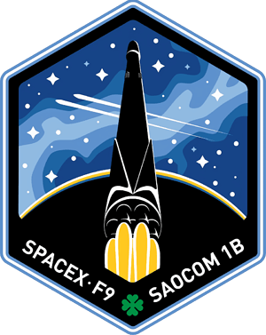 SAOCOM 1B SpaceX Mission Patch