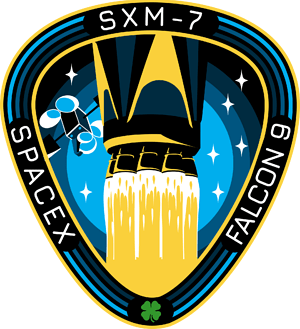 Sirius SXM-7 Space X Mission Patch